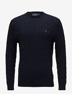 Cable-Knit Cotton Sweater - HUNTER NAVY