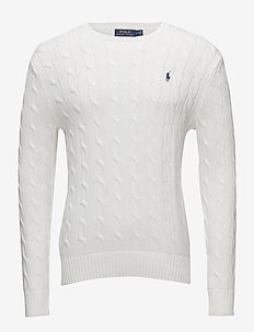 Cable-Knit Cotton Sweater - WHITE