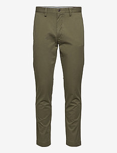 Stretch Slim Fit Cotton Chino - pantalons chino - expedition olive