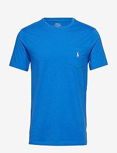 Custom Slim Fit Pocket T-Shirt - COLBY BLUE