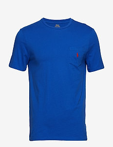 Custom Slim Fit Pocket T-Shirt - NEW IRIS BLUE