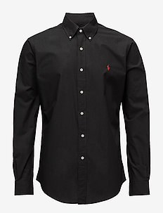 Slim Fit Stretch Cotton Shirt - polo black
