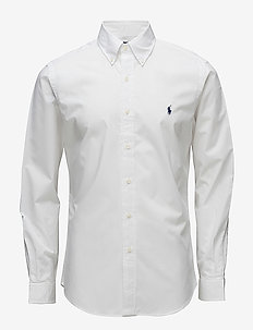 Slim Fit Stretch Cotton Shirt - business skjortor - white
