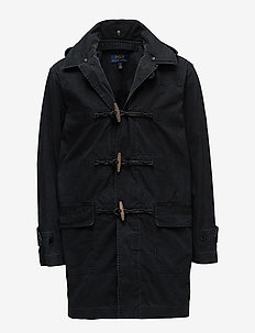 COTTON MATTING-FISKE TOGGLE COAT - POLO BLACK