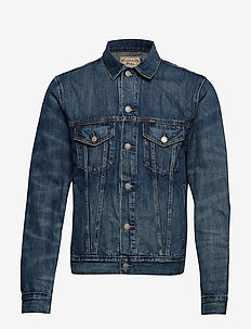 Flag Denim Trucker Jacket - WHEELER WASH