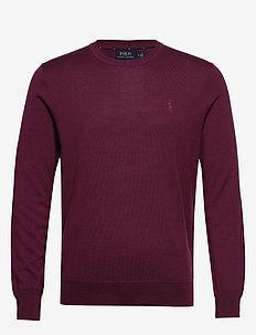 Slim Washable Merino Sweater - CLASSIC BURGUNDY