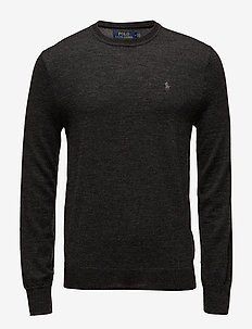 Slim Washable Merino Sweater - truien met ronde hals - dark granite heat