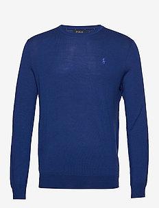 Slim Washable Merino Sweater - knitted round necks - deep royal