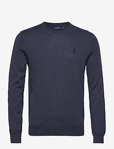 Slim Washable Merino Sweater - rundhalsad - fresco blue heath