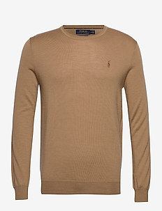 Slim Washable Merino Sweater - LUXURY TAN HEATHE