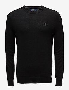 Slim Washable Merino Sweater - POLO BLACK