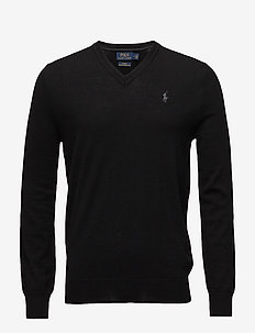 LS SF VN PP-LONG SLEEVE-SWEATER - POLO BLACK