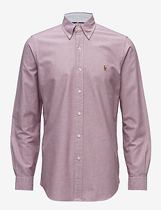 Classic Fit Oxford Shirt - 2535C CRIMSON/WHI