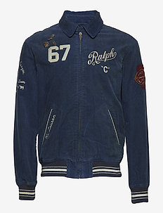 Embroidered Corduroy Jacket - NORFOLK BLUE
