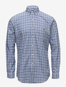 Classic Fit Plaid Oxford Shirt - 2743 BLUES MULTI/