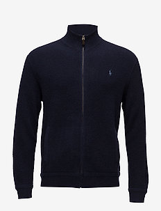 Merino Wool Full-Zip Sweater - HUNTER NAVY