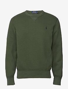 Cotton-Blend-Fleece Pullover - SPARTAN GREEN