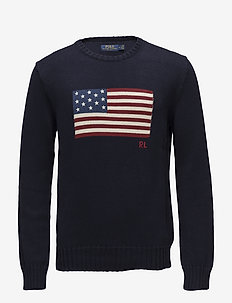 The Iconic Flag Sweater - rundhals - navy
