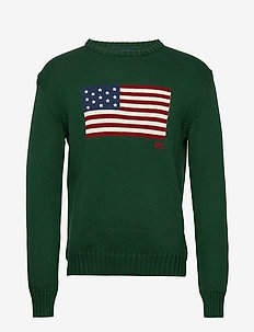 The Iconic Flag Sweater - truien met ronde hals - northwest pine