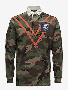 Classic Fit Camo Jersey Rugby - langermede - surplus camo