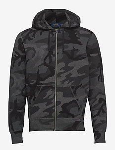 Camo Cotton-Blend Hoodie - CHARCOAL RL CAMO