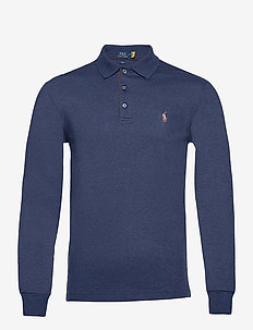 Slim Fit Long-Sleeve Polo - long-sleeved polos - spring navy heath