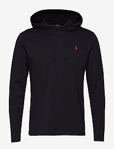 Cotton Jersey Hooded T-Shirt - POLO BLACK/RED PP