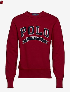 Cotton-Blend-Fleece Sweatshirt - EATON RED