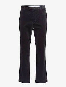 Stretch Slim Fit Corduroy Pant - POLO BLACK