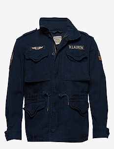 Cotton Twill Field Jacket - NAVY W/ PATCHES