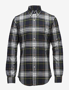 Slim Fit Plaid Oxford Shirt - 2907 WOODLAND/RED
