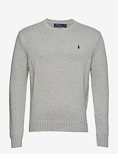 Cotton Crewneck Sweater - ANDOVER GREY HEAT