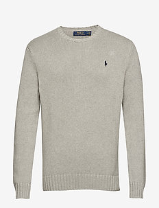 Cotton Crewneck Sweater - ANDOVER HEATHER