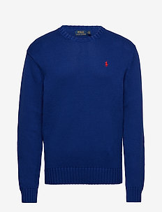 Cotton Crewneck Sweater - basic knitwear - heritage royal