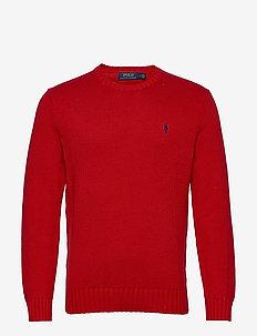 Cotton Crewneck Sweater - podstawowa odzież z dzianiny - polo sport red