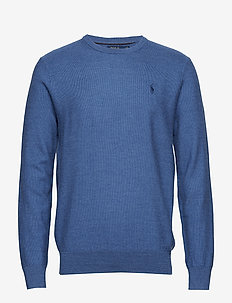 Merino-Silk-Cashmere Sweater - FOG BLUE HEATHER