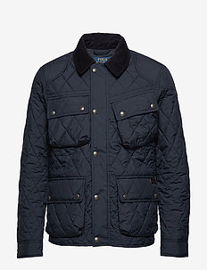 Four-Pocket Biker Jacket - quilted jackets - college navy