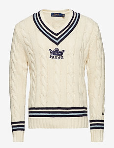 Cotton-Blend Cricket Sweater - CREAM/NAVY/BLUE