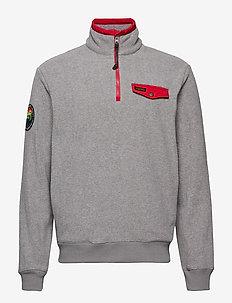 Fleece Half-Zip Pullover - DARK VINTAGE HEAT
