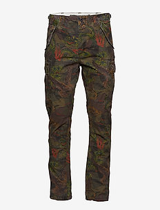 Straight Tapered Cargo Pant - HAWAIIAN CAMO