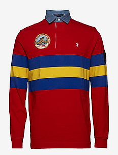 Classic Fit Cotton Rugby Shirt - CRUISE RED MULTI