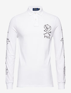 Custom Slim Long-Sleeve Polo - CLASSIC OXFORD WH