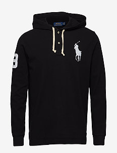 Cotton Mesh Hoodie - POLO BLACK