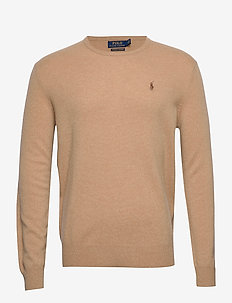 Washable Cashmere Sweater - CAMEL MELANGE