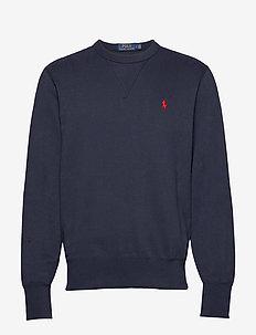 Cotton-Blend-Fleece Sweatshirt - AVIATOR NAVY