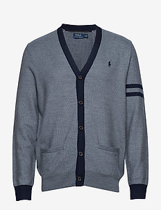 Wool-Blend Letterman Cardigan - MEDIUM FLANNEL HE