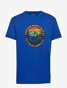 Classic Fit Sportsmen T-Shirt - BLUE SATURN