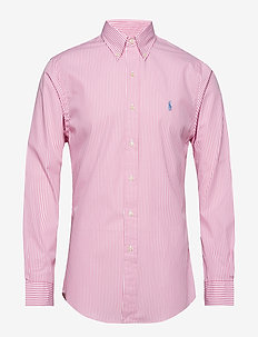 Slim Fit Gingham Cotton Shirt - ruutupaidat - 3012b pink/white