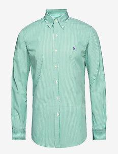 Slim Fit Gingham Cotton Shirt - 3012C STEM GREEN/