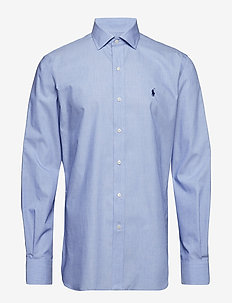 Slim Fit Plaid Poplin Shirt - PERIWINKLE BLUE
